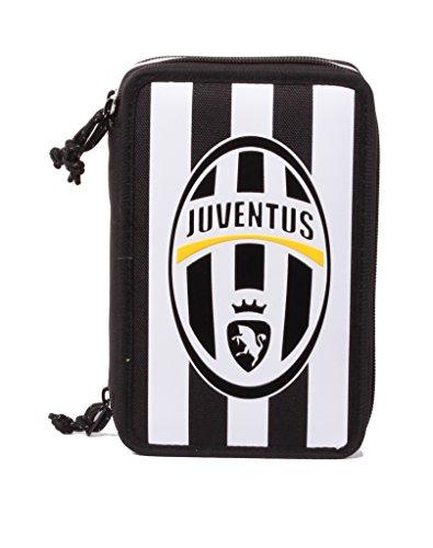 Seven Juventus 3B6011601-F75 Astuccio, 3 Scomparti, Poliestere, Multicolore