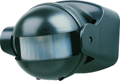 Elro ES34Z Automatischer Bewegungsmelder für Glüh- und Halogenlampen (1100 W/500 W) / Erfassungsbereich 180° x 12 m