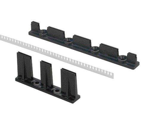 panduit fsh40 x fanning system abs 4 x 8 screws mounting method black pack of 10