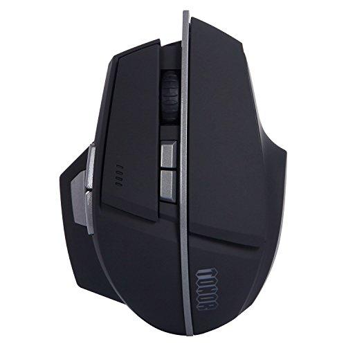 Tonor 8 Tasten Aufladbare Bluetooth Maus Wireless für Windows 7/8/10/Vista/Mac/Android Schwarz