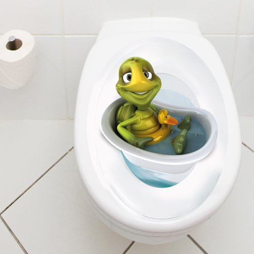 Wandkings Toilet Lid Decal Turtle In Bathtub With Lifesaver 11