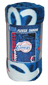 Los Angeles Clippers NBA Lightweight Fleece Throw Blanket 50x60 by NBA