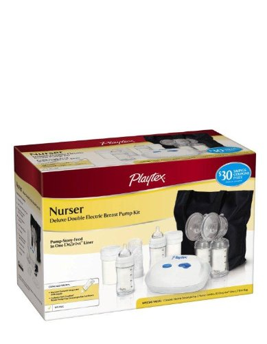 Playtex Nurser Deluxe Double Electric Breast Pump Kit with Tote
