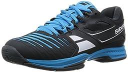 Babolat Men\'s SFX 2 All Court Tennis Shoes (Black/Blue) (9 D(M) US)