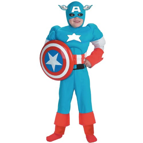Captain America Deluxe Muscle Child Costume - Kid's Costumes