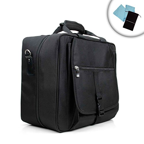 Form-Fitting Xbox One Travel Carrying Case With Kinect Carrying Pouch , Adjustable Shoulder Strap , Game Disc Pockets , And Accessory Pockets *Includes Bonus Accessory Bag And Microfiber Cleaning Cloth