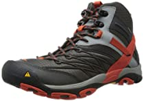 Hot Sale KEEN Men's Marshall Mid WP Hiking Boot,Raven/Spicy Orange,10 M US