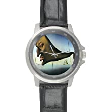 buy New Year/Christmas Discount Gifts Salvador Dali'S Painting Sommeil Unisex Leather Strap Watch