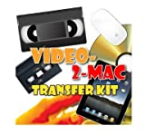 Video-2-Mac DIY Video Capture Kit. For Mac OSX Mavericks (10.9.4), Mountain Lion (10.8.5), Lion (10.7.5) & Snow Leopard (10.6.8). Includes USB capture hardware, leads & capture software. Links your existing VCR or Camcorder to your Apple Mac. Edit captur