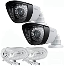 Samsung 600TVL DayNight All Weather Proof Camera 2PACK with Cables for 16 CH SAMSUNG SYSTEMS SDS-P51