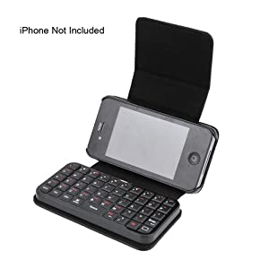 Mini Wireless Bluetooth Keyboard + Leather Case for iPhone 4 , iPad , PS3, Smart Phone, HTPC