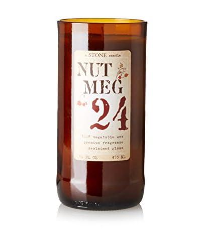 Stone Candles 16-Oz. Reclaimed Wine Bottle Candle, Nutmeg Vanilla