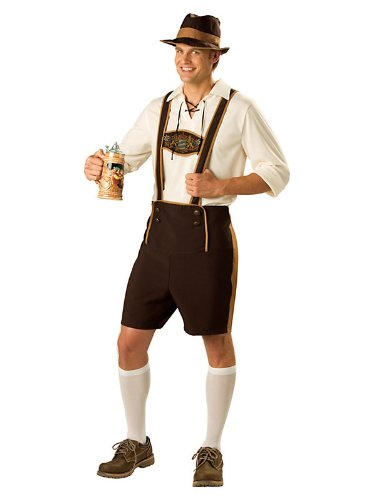 Oktoberfest Bavarian Guy Adult Costume Size Medium