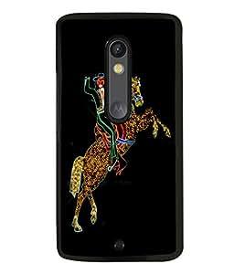 printtech LED Horse Cowboy Back Case Cover for Motorola Moto X Style
