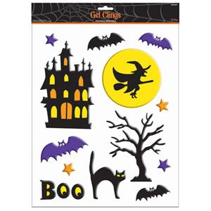 Haunted Scene Large Gel Cling