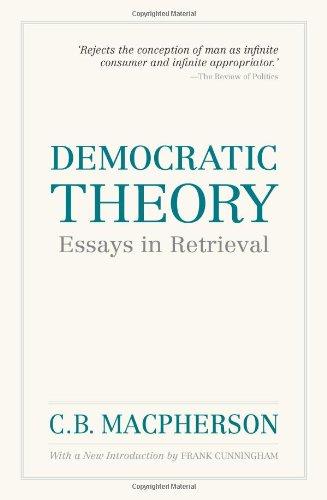 Democratic Theory: Essays in Retrieval (Wynford Books)