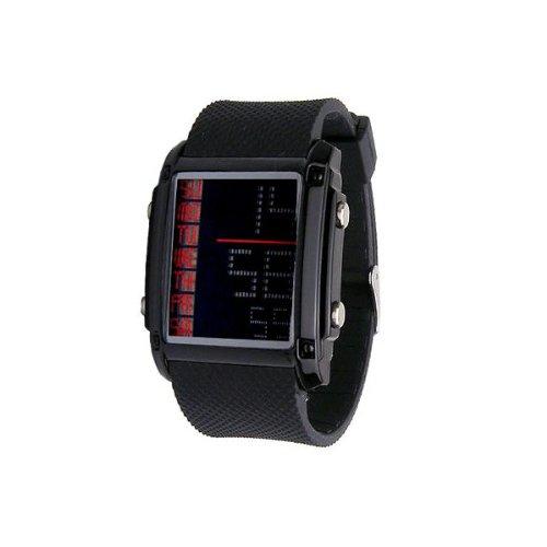 BOUNCER デジタル 腕時計▽IMP381G ブラック 反転液晶【BOUNCER】