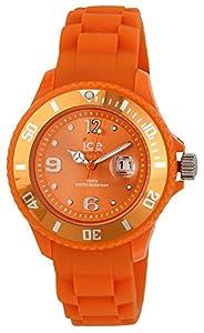 ICE-Watch - Montre Mixte - Quartz Analogique - Ice-Forever - Orange - Small - Cadran Orange - Bracelet Silicone Orange - SI.OE.S.S.09