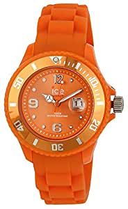 ICE-Watch - Montre Mixte - Quartz Analogique - Ice-Forever - Orange - Small - Cadran Orange - Bracelet Silicone Orange - SI.OE.S.S.09