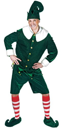 Funny Fashion Holly Jolly Elf for Santa Adult Costume