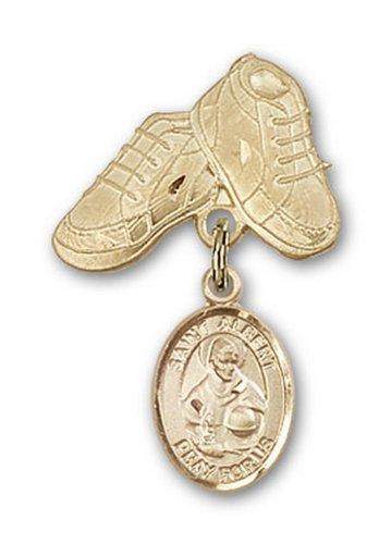 Icecarats Oro Gioielli Di Design Riempito St. Alberto Magno Stivali Fascino Bambino Pin 1 X 5/8