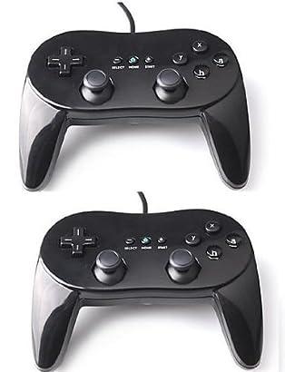 Super 2 X Classic Controller Pro For Nintendo Wii Remote