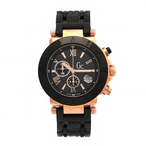 Guess Collection Men's Chronograph Watch I47000G1 with Black Dial