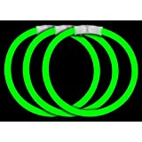 "CoolGlow Educational Products - 50 8"" Glow Stick Bracelets Green Glowsticks - Simply snap and shake"