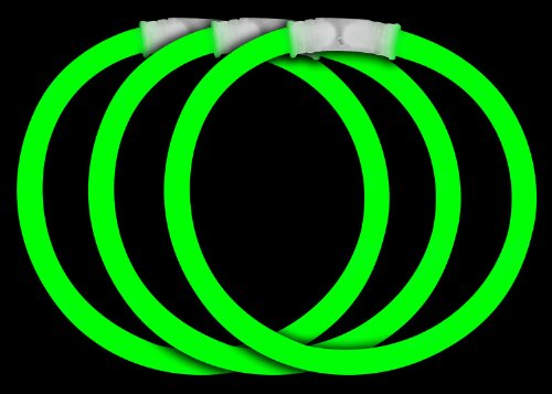Fun Central P70 8 Inch Glow Stick Bracelets Green Glowsticks - 50 Count - 1