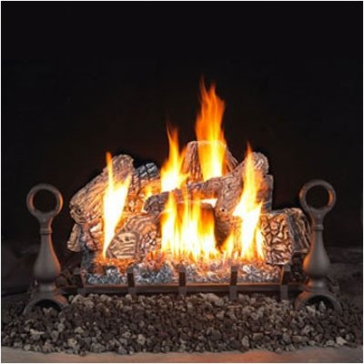 Vent Free Fireplace Gas Log Sets Size: 24