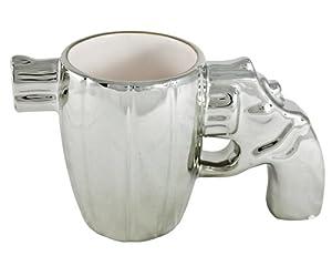 Chrome Gun Pistol Coffee Mug by Kito