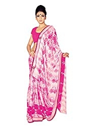 Suchi Fashion Off White And Pink Silk Printed Party Wear Sarees