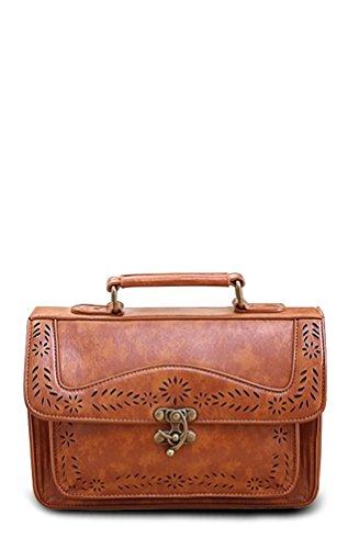 AsianiCandy retro buckle cutout satchel