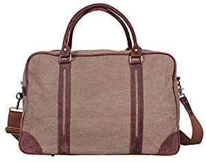 Blueblue Sky Oversized Leather Canvas Casual Travel Hobo Tote Luggage Duffel Handbag#1827