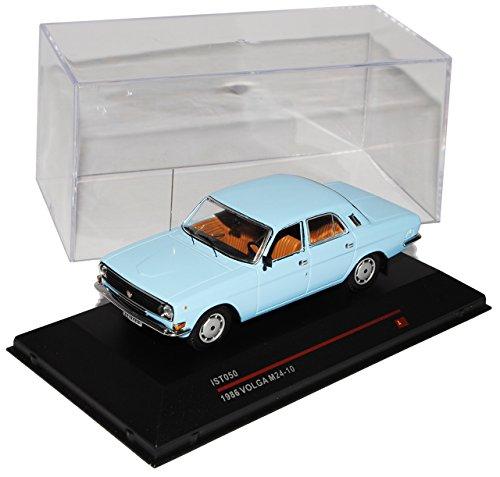 Wolga M24-10 1985 Limousine Blau IST050 1/43 Ist Ixo Modell Auto