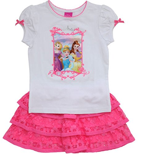 Disney Princesses Girls' 2-piece Skort Set, Pink (4T) (Disney Tangled Clothing compare prices)