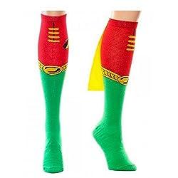 DC Comics Robin Logo Knee High Socks