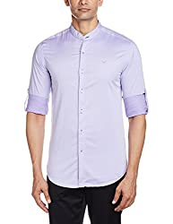 Freehand Men's Casual Shirt (FHS107-Lavander_XX-Large)