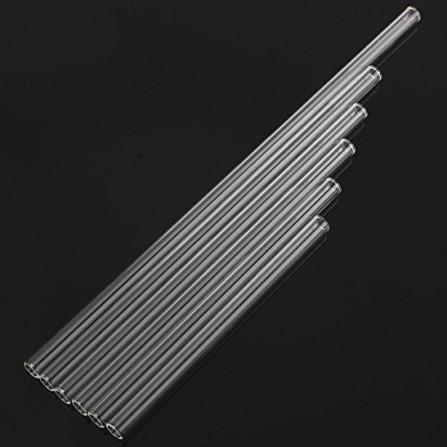 KINGSO-10mm-Dia-Clear-Reusable-Glass-Drinking-Straw