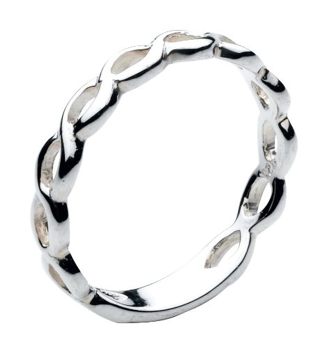 Heritage Sterling Silver Celtic Two Twist Ring