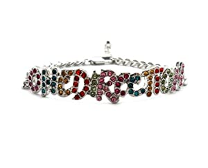 Rhinestone One Direction Infinity Directioner Bracelet W 4mm Link Chain Xb286rm from NYfashion101inc