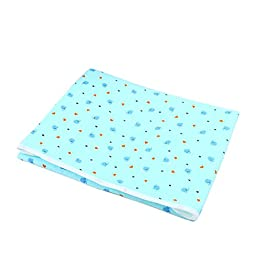 Foldable Washable Nappy Diaper Changing Mat - Reusable Baby Mat, Portable Liners, PVC-free, Guarantee, Changing Pad Cover (80×60, Blue)