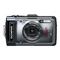 OLYMPUS デジタルカメラ TG-1 シルバー 12m防水 2m耐落下衝撃 -10℃耐低温 耐荷重100kg 1200万画素 F2.0ハイスピードレンズ 裏面照射型CMOS 光学4倍ズーム ハイビジョンムービー 3.0...