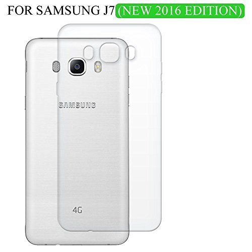 Shop Buzz Transparent Back Cover For Samsung Galaxy J7 2016 Edition 5.5 Inches Screen - TPU Silicon Back for Sam J7 (2016) / New J7