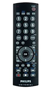 Philips SRU2103/27 Universal Big Button 3 Device Remote (Black)