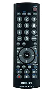 Philips SRU2103/27 Universal Big Button 3 Device Remote (Black) (Discontinued by Manufacturer)