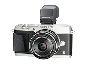 Olympus PEN E-P5 Micro Four Thirds Interchangeable Lens Camera - Silver (16.1MP, Live MOS, M.Zuiko 17mm 1:1.8mm Lens, VF-4 Elelctronic Viewfinder) 3.0 inch Tiltable Touchscreen LCD