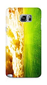 Amez designer printed 3d premium high quality back case cover for Samsung Galaxy Note 5 (Friendly sky)