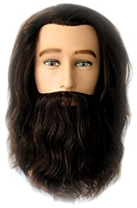 Celebrity Mr. Sam Cosmetology Human Hair Manikin with Beard