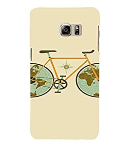PrintVisa Travel Cycle Map Design 3D Hard Polycarbonate Designer Back Case Cover for SAMSUNG GALAXY NOTE 6
